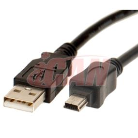 iCAN Mini USB2.0 5-pin Cable for Camera/Camcorder - 10 ft. (ZGH-A37-10FT)