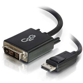 C2G 3ft DisplayPort Male to Single Link DVI-D Male Adapter Cable - Black - DisplayPort/DVI-D for Notebook, Monitor, Desktop Computer, Video Device - 3 ft - 1 x DisplayPort Male Digital Audio/Video - 1 x DVI-D (Single-Link) Male Digital Video - Black - 54328 by C2G