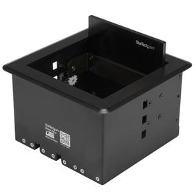 StarTech Conference Table Cable Management Box - Table Top - Conference Room AV - Conference Table Connectivity Box (BOX4CABLE)
