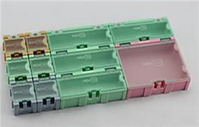 King'sdun 11PCS Electronic Small Parts SMD Component Storage - 6pcs*1#,  4pcs*2#, 1pcs*3# (KS-51605)