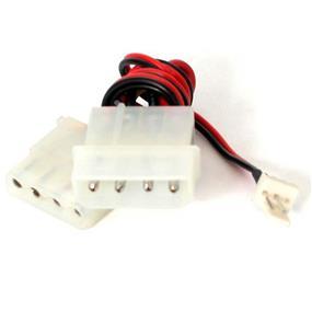 StarTech Fan Adapter - TX3 to 2X LP4 Power Y splitter Cable - 4 pin internal power (M) - 4 pin internal power, 3 pin internal power - 12in (CPUFANADAPT)