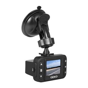 GEKO E100 Full HD Dashcam with Included 8GB Micro SD Card & Adapter