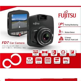 "Fujitsu FD7 Full HD1080P@30fps, 180° Wide Angle,  2.4""LCD Car Camera"