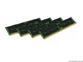 Kingston 16GB 1600MHz DDR3 ECC Reg CL11 DIMM (Kit of 4) SR x8 w/TS intel, System Specific for Intel (KVR16R11S8K4/16I)