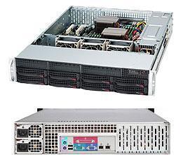 "Supermicro SuperChassis 825TQ-R720LPB - 2U 720W 8x3.5"" Hot-swap SAS/SATA ATX Black Retail"