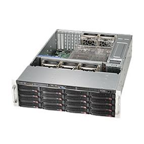 "SuperMicro SuperChassis (836BE1C-R1K03B) 3U Chassis 800/1000W - EATX/ATX - 16 x 3.5"" - SAS/SATA HOT-SWAP BAYS, 2 x 2.5"" hot-swap drive bay"
