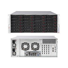 "SuperMicro SuperChassis (846BE1C-R1K28B) 4U Chassis - EE-ATX - 24 x 3.5"" Hot-swap Drive Bay"