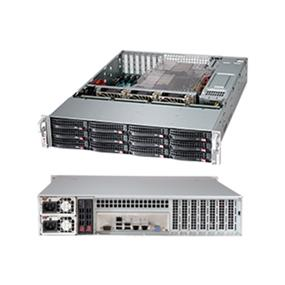 "SuperMicro SuperChassis (826BE16-R920LPB) 2U Chassis - 12 x 3.5"" Hot-swap SAS/SATA drive bay with SES2 & Mini-i-Pass"