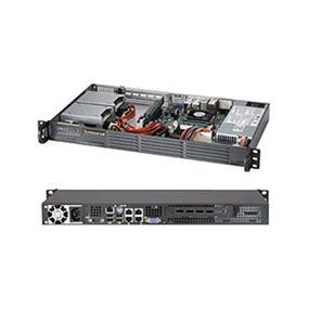 "SuperMicro SuperChassis (504-203B) Mini 1U Chassis - 200W - Mini-ITX 6.75"" x 6.75"""