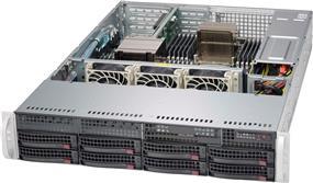 Supermicro Case CSE-825TQ-600WB 2U 8x3.5inch SAS/SATA 2xFixed 3.5inch 600W Retail