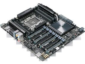 Asus X99-E-10G WS Server/Workstation Motherboard - CEB Form Factor,LGA2011-v3 Socket for The Next Generation Intel Core i7/Xeon E5-2600 v4/v3 and 1600 v3 Processors,Intel X99 Express Chipset,8 x DIMM, Max. 128GB, DDR4 ,2xIntel X550-AT2 10 Gigabit LAN controller,Realtek ALC1150 8-channel