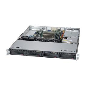 Supermicro SuperServer 5019S-MR Intel® Xeon® processor E3-1200 v5, DDR4 2133MHz; 4x DIMM Slots 1x PCI-E x8 (in x 16) AOC slot (SYS-5019S-MR)
