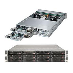 Supermicro SuperServer 6028TP-HC1TR Intel® Xeon® processor E5-2600 v4, DDR4 2400MHz; 16x DIMM Slots 1x PCI-E 3.0 x16 AOC slot (SYS-6028TP-HC1TR)