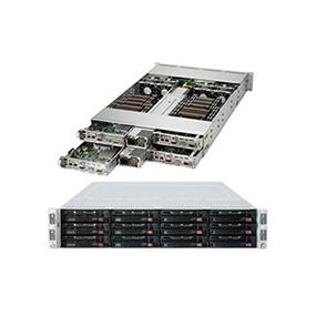 Supermicro SuperServer 6028TR-HTR Intel® Xeon® processor E5-2600 v3, DDR4 2400MHz; 8x DIMM Slots 1x PCI-E 3.0 x16 (FHHL) AOC slot (SYS-6028TR-HTR)