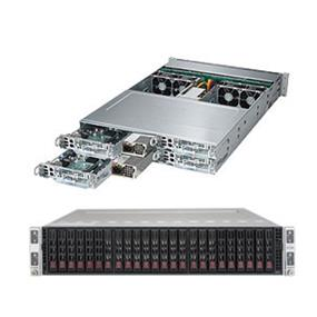 """Supermicro SuperServer SYS-2028TP-HTFR Intel® Xeon® processor E5-2600 v3, DDR4 2400MHz; 16x DIMM Slots 1x PCI-E 3.0 x16 Low-profile slot & 1x """"0 slot"""" (SYS-2028TP-HTFR)"""