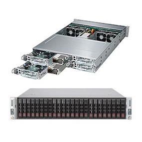 """Supermicro SuperServer SYS-2028TP-HTTR Intel® Xeon® processor E5-2600 v3, DDR4 2400MHz; 16x DIMM Slots 1x PCI-E 3.0 x16 Low-profile slot & 1x """"0 slot"""" (SYS-2028TP-HTTR)"""