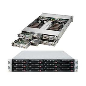 Supermicro SuperServer SYS-6027R-TRF Intel® Xeon® processor E5-2600 v2, DDR3 1866MHz; 16x DIMM slots, 2x PCI-E 3.0 x16 FHHL slot (SYS-6027R-TRF)