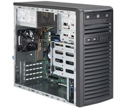 Supermicro SuperServer 5038D-I Barebone System Mid-tower - Intel C222 Express Chipset - Socket H3 LGA-1150 - 1 x Processor Support - Black