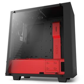 NZXT S340 Elite Tempered Glass Matte Black/Red Mid Tower (S340W-B4)