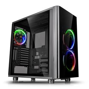 Thermaltake View 31 RGB Dual Tempered Glass ATX Black Gaming Mid Tower Case with 3x Riing RGB LED Fans (CA-1H8-00M1WN-01)