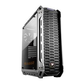 Cougar Panzer S Black Fully Transparent Tempered Glass Windows ATX Mid Tower Gaming Case (385GML0.0001)