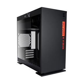 IN WIN 301 Black Tempered Glass Window Micro-ATX Mini Gaming Tower Case