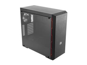 Cooler Master Box MB600L ATX Mid-Tower, Sleek Design with Red Side Trim and Acrylic Side Panel MCB-B600L-KA5N-S00