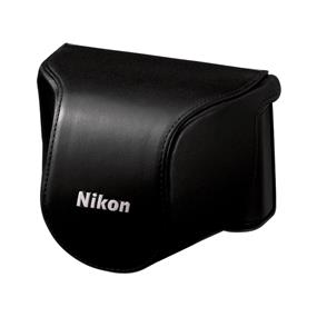 Nikon CB-N2000SA Leather Body Case Set (Black) - For Nikon 1 J1, J2