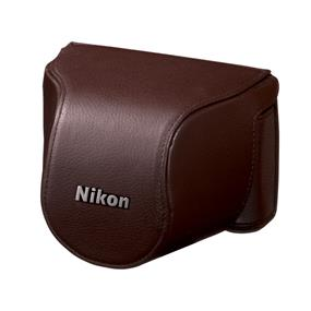 Nikon CB-N2000SC Brown Leather Body Case - For Nikon 1 J1, J2