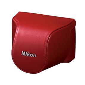 Nikon CB-N2000SE Leather Body Case Set (Red) - For Nikon 1 J1, J2