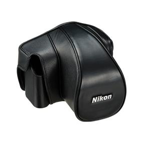 Nikon CF-DC6B Leather Case Set (Black) - For Nikon Df