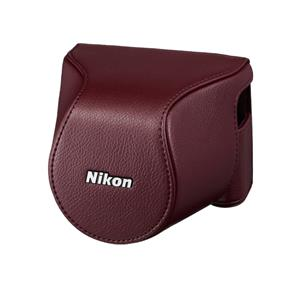 Nikon CB-N2200S Body Case Set (Wine Red) - For Nikon 1 J3, Nikon 1 S1