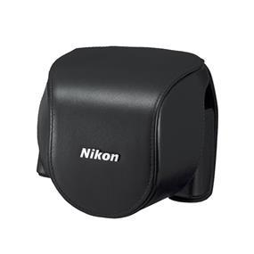 CB-N4000SA Leather Body Case Set (Black) - For Nikon 1 V2