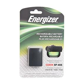 Energizer ENV-C808 Rechargeable Li-Ion Replacement Battery for Canon BP-808