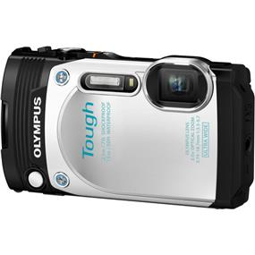 Olympus Stylus Tough TG-870 Digital Camera (White)