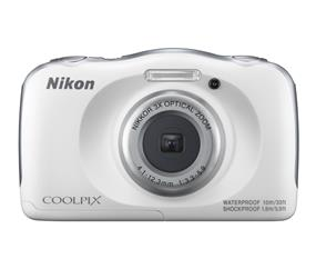 Nikon Coolpix W100 Digital Camera (White)