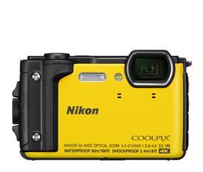 "Nikon W300 Waterproof Underwater Digital Camera with TFT LCD, 3"", Yellow (32368)"