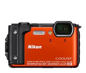 "Nikon W300 Waterproof Underwater Digital Camera with TFT LCD, 3"", Orange (32368)"