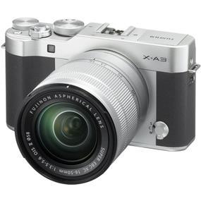 Fujifilm X-A3 Mirrorless Digital Camera with 16-50mm Lens (Silver)