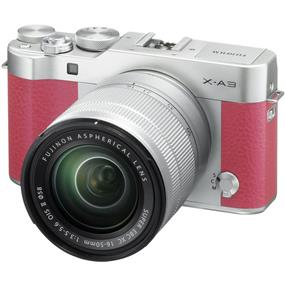Fujifilm X-A3 Mirrorless Digital Camera with 16-50mm Lens (Pink)