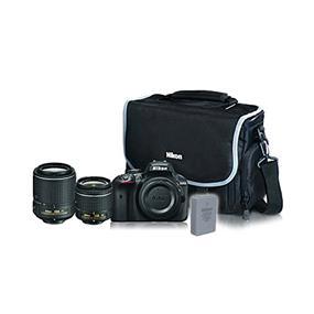 Nikon D3400 Dual Lens Bundle (D3400 w/ 18-55VR Kit + 55-200 VR II + Gadget Bag + Battery)