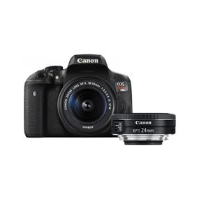 Canon EOS Rebel T6i w/ EF 18-55mm IS STM/ EF-S 24mm f2.8 STM Combo