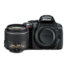 Nikon D5300 DSLR Camera With AF-S DX NIKKOR 18-55mm f/3.5-5.6G VR II Kit (Black)