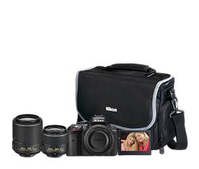 Nikon D5300 DSLR Camera Dual Lens Bundle (Black)
