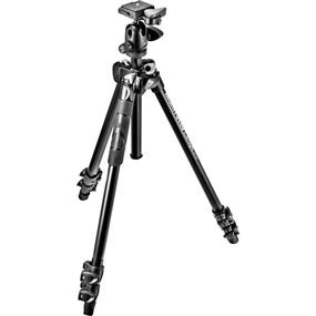 Manfrotto 290 Light Aluminum 3-Section Tripod Kit With 494RC2 Ball Head