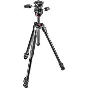 Manfrotto 290 Xtra Aluminium 3-Section Tripod with 3-Way Head