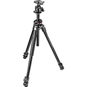Manfrotto 290 Dual Aluminum 3-Section Tripod Kit with 496RC2 Ball Head
