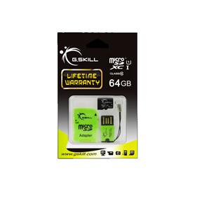 G.Skill 64GB Micro SDXC Card U1-Class10  with USB Adapter (FF-TSDXC64GC-U1)
