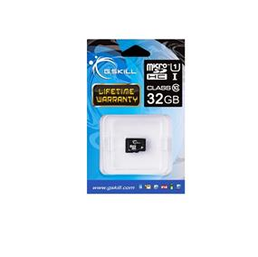 G.Skill 32GB Micro SDHC U1-Class10 Up to 30MB/s Read, 10MB/s Write (FF-TSDG32GN-C10)