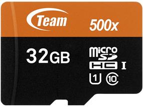 Team 32GB Class 10 UHS-I microSDHC Flash Card With Adapter - UP to 80MB/s Read, 15 MB/s Write (TUSDH32GUHS03)